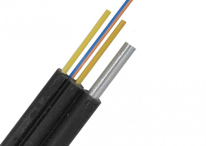 LSZH Fiber Optic Armoured Cablec , KFRP FRP Ftth Fiber Optic Cable GJXH GJFXH