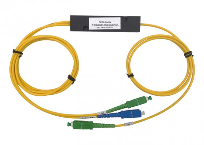 FWDM T1550 DWDM CWDM Equipment Channel Spacing In Telecom Fiber Mux Demux COM 1 X 2 FBT