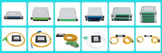 ABS Box Fiber Optic PLC Splitter 3.0mm G657A1 SC/APC 17.2dB Insertion Loss G657A1
