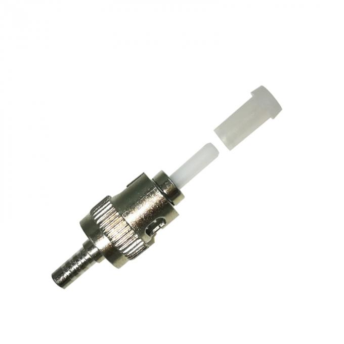 Metal Colour ST Type Fiber Optic Connector Couplers Single Mode 50/55/60/65mm Length