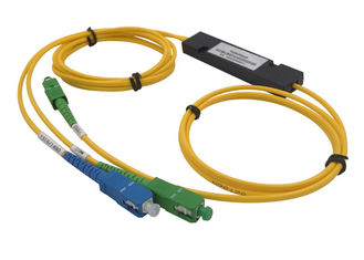 China FWDM T1550 DWDM CWDM Equipment Channel Spacing In Telecom Fiber Mux Demux COM 1 X 2 FBT supplier