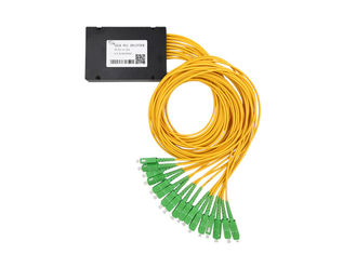 China PLC Fiber Optical Splitter SC/APC 1×16 ABS BOX Splitter 3.0 G657A1 Insertion Loss13.7dB supplier