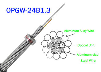 China OPGW ADSS Fiber Optic Cable 24B1.3 Range 60 130 Power Telecommunication Outer material Metal wires supplier
