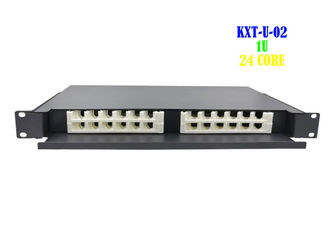 China Network 1U Rack Fiber Patch Panel 24 Port Drawer Type Terminal Rack Mount supplier
