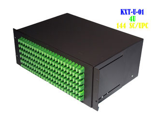 China Residential Rack Fiber Patch Panel 4U , Rack Mount Ethernet Patch Panel 144 Core supplier