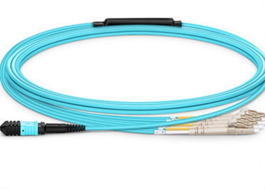 China 40gbe MPO To LC Duplex Breakout Cable , OM3  Multimode Fiber Optic Cable supplier