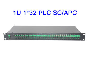 China 1U 1x32 Fiber Optical PLC Splitter Module Rack Mount Digital Low insertion loss supplier