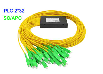 China ABS Box Fiber Optic PLC Splitter 3.0mm G657A1 SC/APC 17.2dB Insertion Loss G657A1 supplier