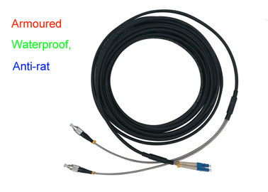 China Waterproof Armoured Duplex Fiber Patch Cord Indoor 5.0mm Anti - Rat DX LC FC supplier