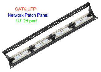 China 1U 19 Inch UTP Copper Lan Cable 2U CAT5E CAT6 24 48 Port RJ45 Network Patch Panel supplier