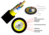 Overhead Electric Power ADSS Armored Fiber Optic Cable No Armoured Track Resistant Outer Sheath