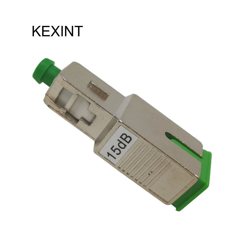 Fixed Fiber Optical Attenuator 10 DB  15 Db , LC UPC Single Mode Attenuator