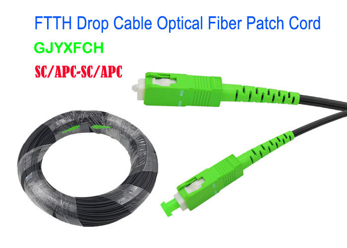 GJYXFCH FTTH Drop Fiber Optical Patch Cord Aerial / Duct 0.25db CE Certificated