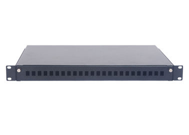 China 1U 24 Ports SC ODF Optical Rack Fiber Patch Panel 19 Inch Pull-out Type factory