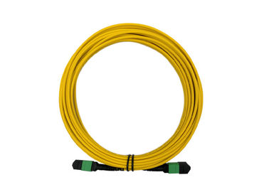 China 12 Core APC SM 20m MTP MPO Patch Cord  9 / 125 Single mode LSZH Female to Female factory