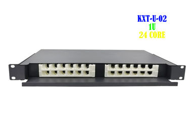 China Network 1U Rack Fiber Patch Panel 24 Port Drawer Type Terminal Rack Mount factory