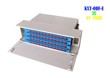 China Power Rack Fiber Patch Panel SC FC Cold Rolled Gray Color Easy To Maintenance factory