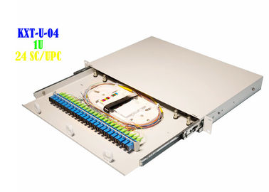 China Industrial 24 Port Outdoor Fiber Optic Patch Panel Wall Mount 1U SC UPC distributor