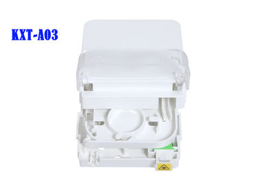 FTTH Termination Box ABS Fiber Optic Distribution Box G657A2  Flame Retardant