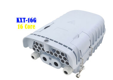 China 16 Core Fiber Optic Distribution Box Gray PC ABS PE Wall Hanging Pole Installation factory