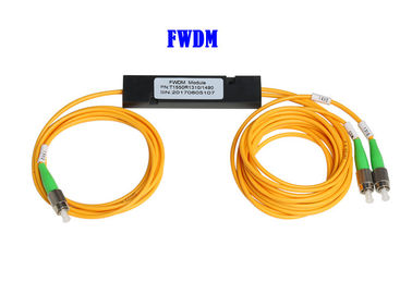 China FWDM Wavelength Division Multiplexer FC APC T1550 TV 1*2  45dB Isolation factory