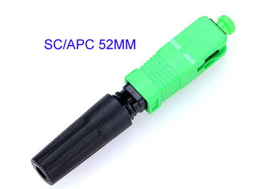 China SC-APC Quick Connect Fiber Optic Connectors 0.3dB Insertion Loss Easily Installed 52MM distributor