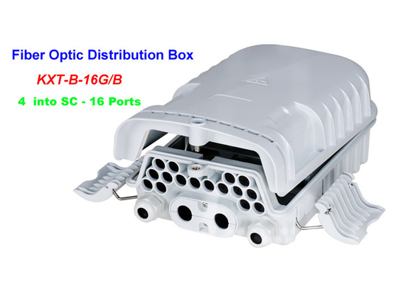 China 16 ~ 96 Cores FTTH Fiber Optic Distribution Box 4 into SC 16 Ports Wall mounting Holding pole factory
