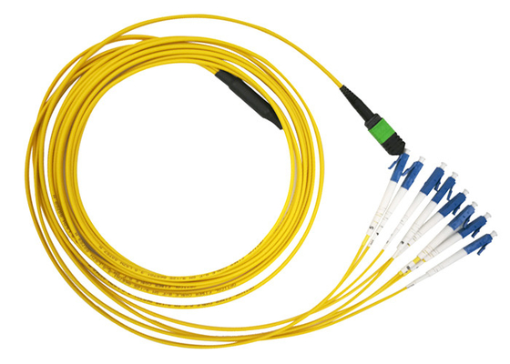 China MTP MPO SM 12 LC Fiber Optic Patch Cord Single Mode LSZH  G657A2 Resistant to bending factory