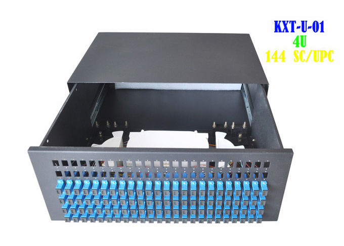 Residential Rack Fiber Patch Panel 4U , Rack Mount Ethernet Patch Panel 144 Core