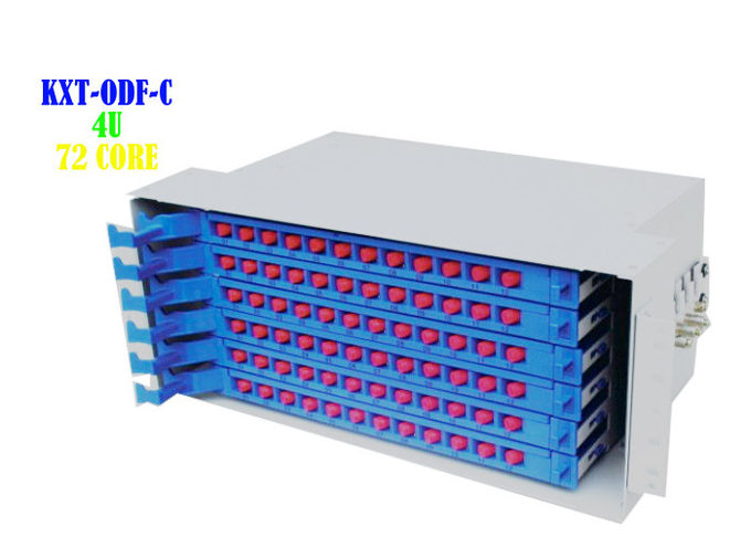 Cabinet 48 Port Ethernet Patch Panel Rj45 To Rj45 Cold Rolled Steel Plate