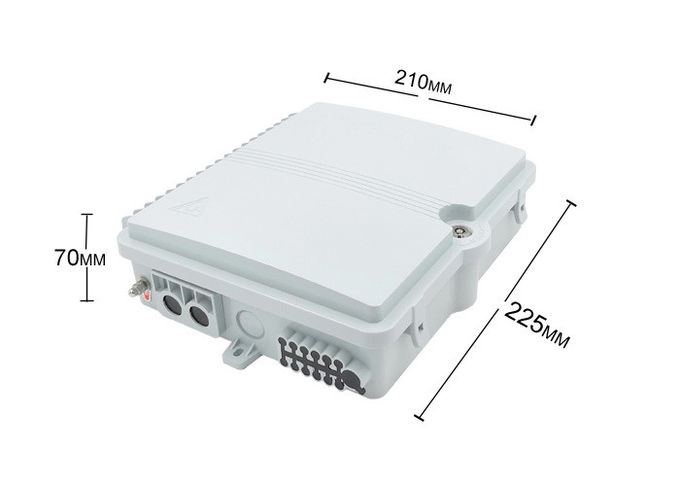 12 Core Fiber Optic Distribution Box , Fiber Optic Joint Box Wall Hanging