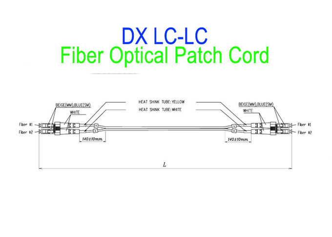 Waterproof Optical Patch Cord SC/APC LC To SC Single Mode LSZH G657A2 HUAWEI Armour IP68 8